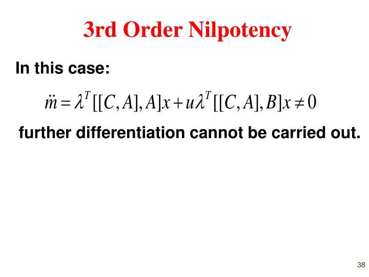 3rd Order Nilpotency