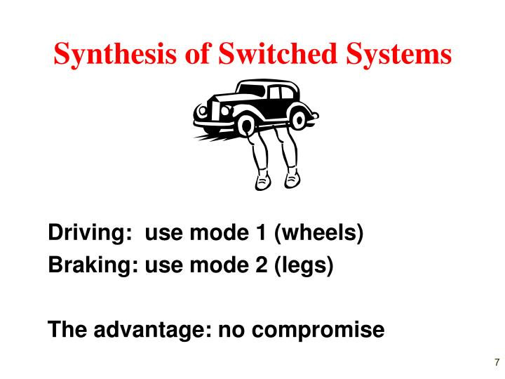Synthesis of Switched Systems