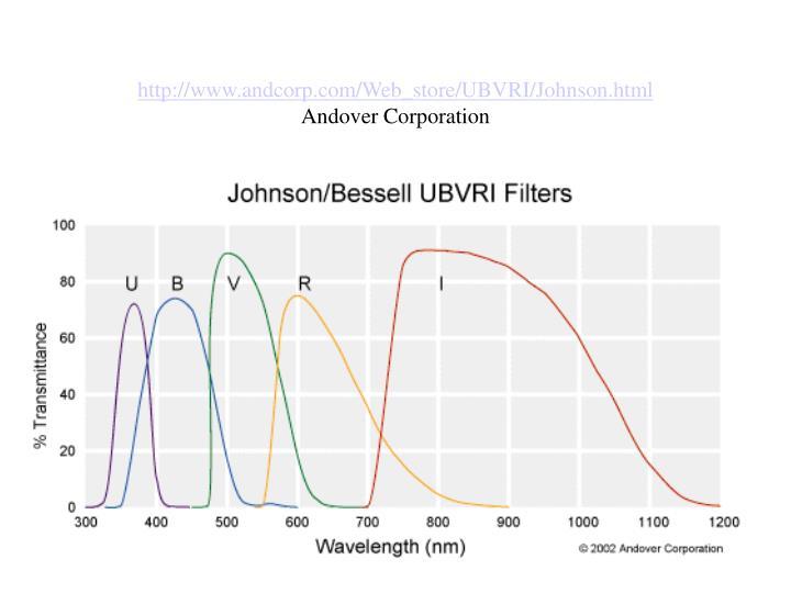 http://www.andcorp.com/Web_store/UBVRI/Johnson.html