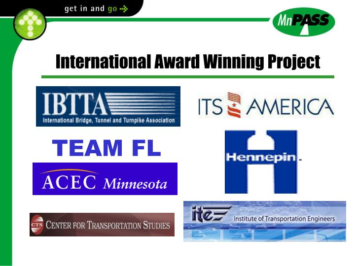 International Award Winning Project