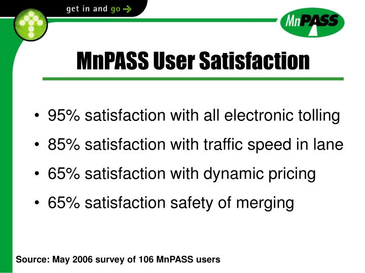MnPASS User Satisfaction