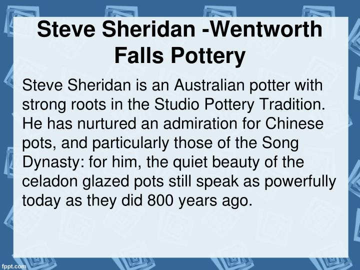 Steve Sheridan -Wentworth Falls Pottery