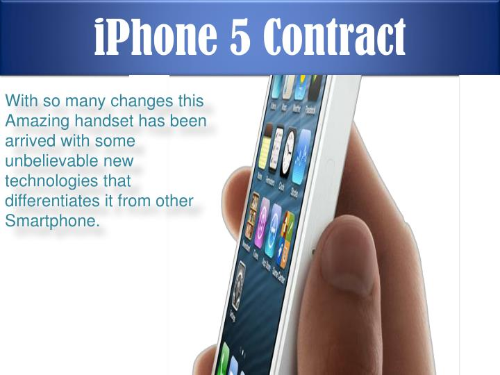 Iphone 5 contract