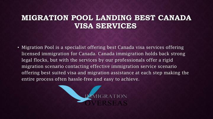 Migration Pool landing best Canada visa