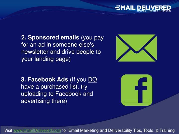 2. Sponsored emails