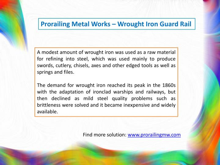 Prorailing Metal Works – Wrought Iron Guard Rail