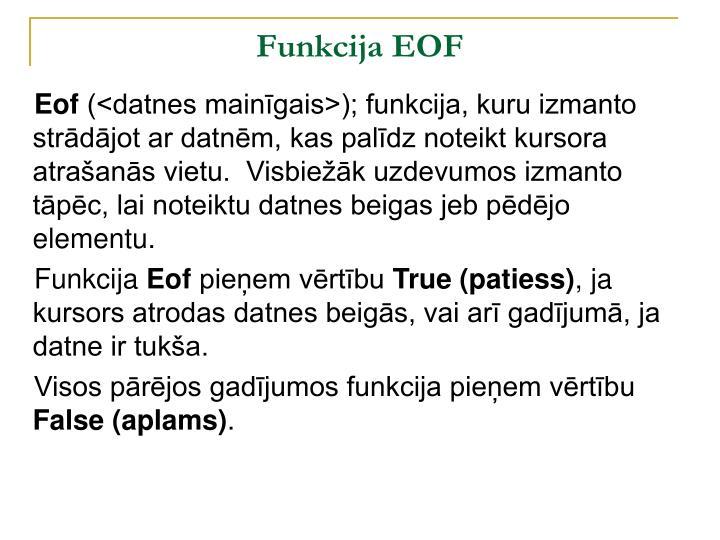 Funkcija EOF