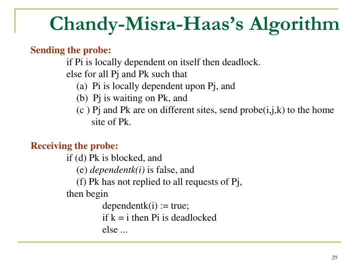 Chandy-Misra-Haas's Algorithm