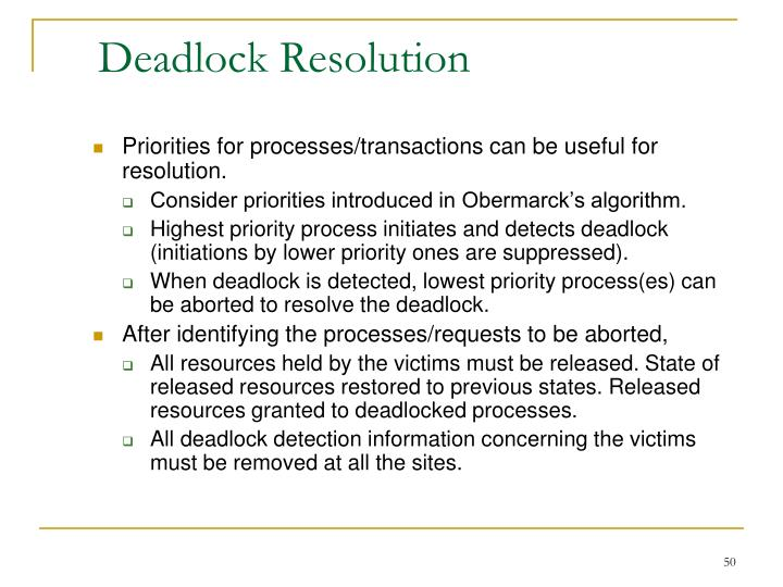 Deadlock Resolution