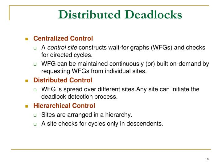 Distributed Deadlocks