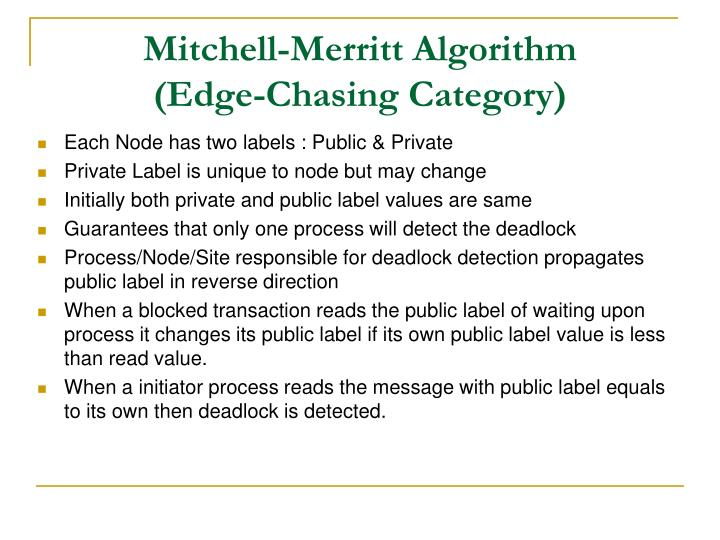 Mitchell-Merritt Algorithm