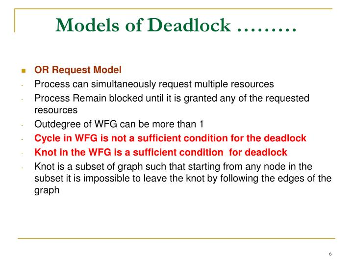 Models of Deadlock ………