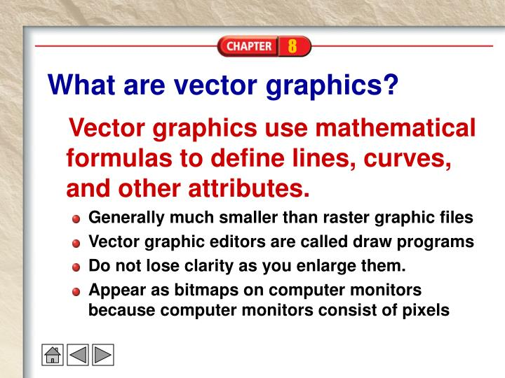 What are vector graphics?