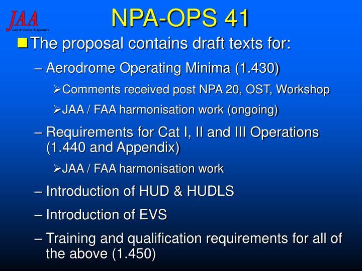 NPA-OPS 41