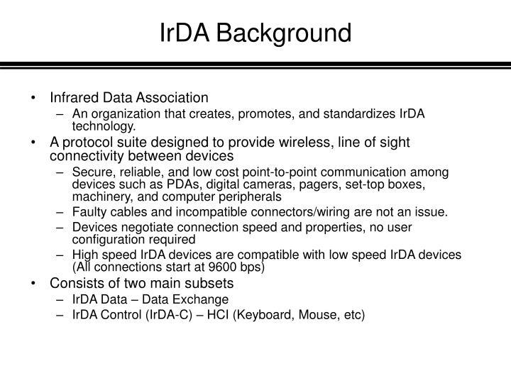 IrDA Background