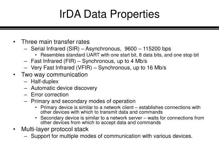IrDA Data Properties