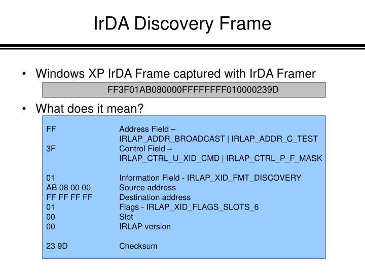 IrDA Discovery Frame