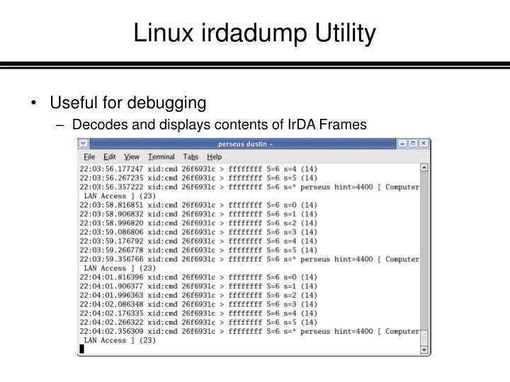 Linux irdadump Utility