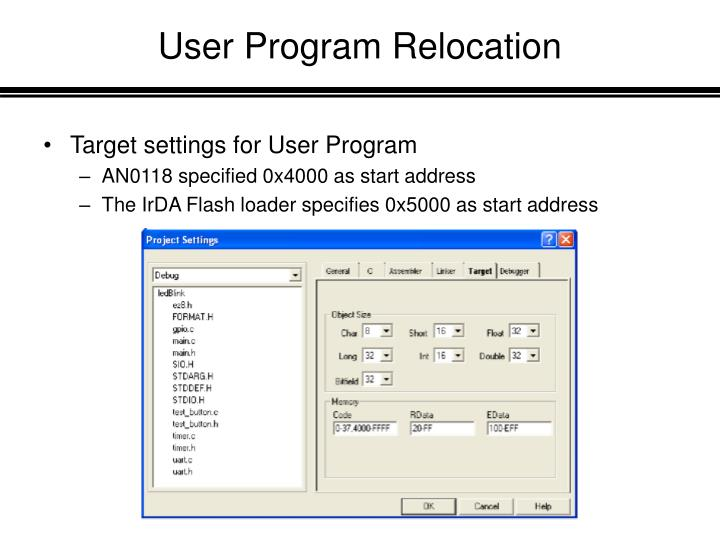 User Program Relocation