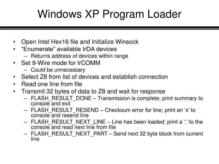 Windows XP Program Loader