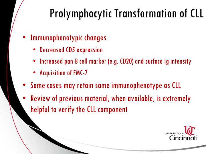 Prolymphocytic Transformation of CLL