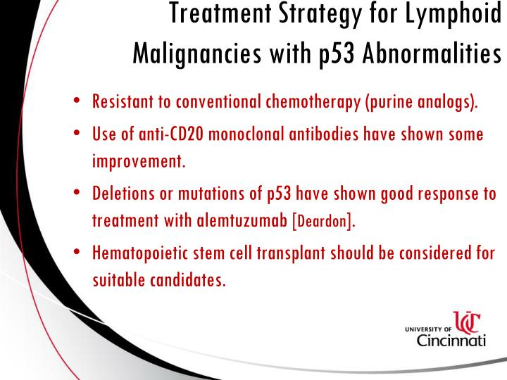 Treatment Strategy for Lymphoid Malignancies with p53 Abnormalities