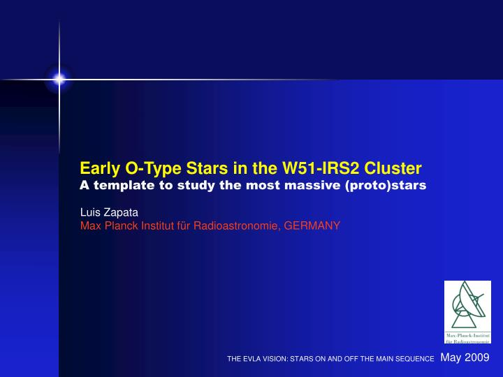 Early O-Type Stars in the W51-IRS2 Cluster