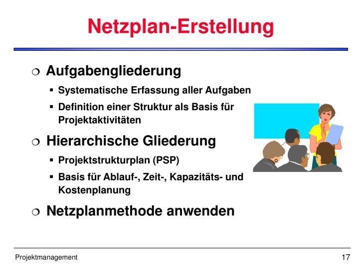Netzplan-Erstellung