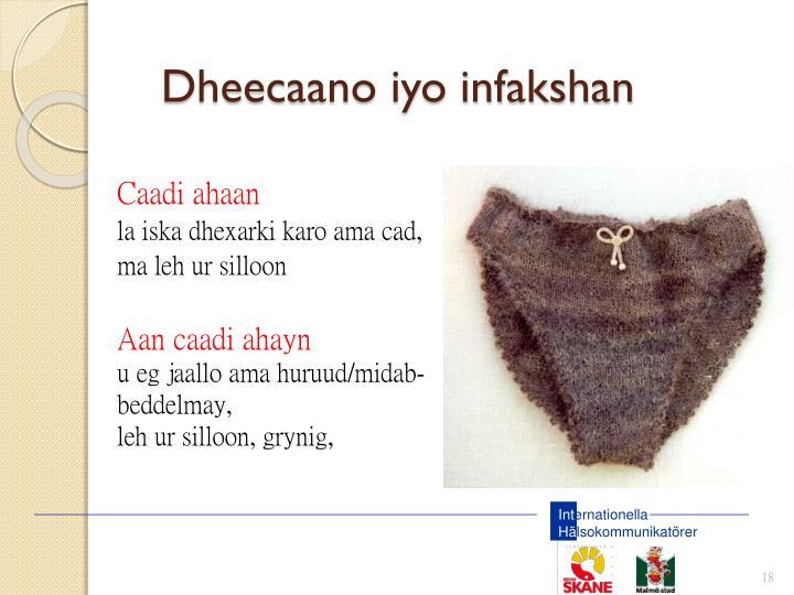 Dheecaano iyo infakshan
