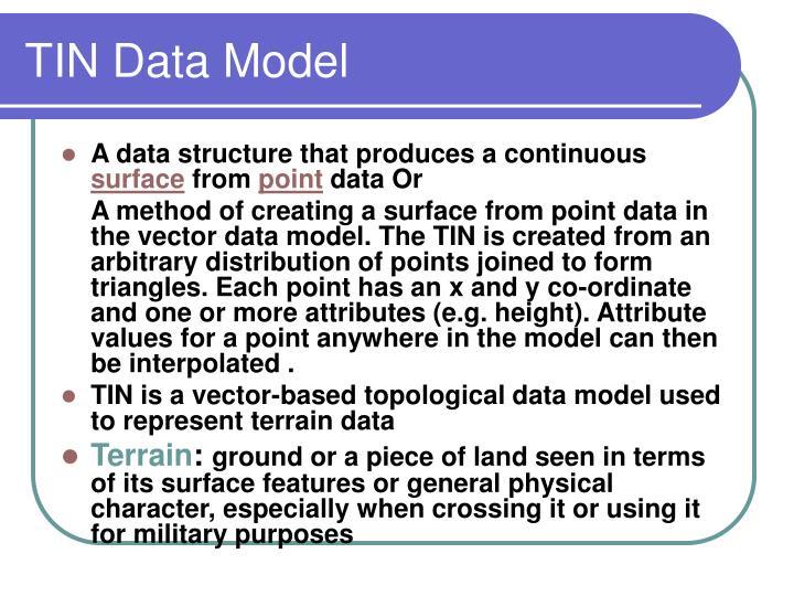TIN Data Model