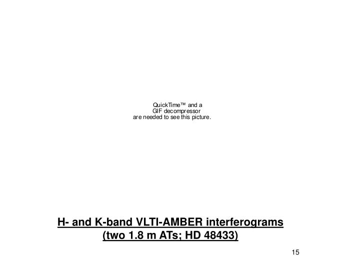 H- and K-band VLTI-AMBER interferograms