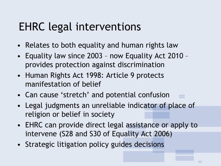 EHRC legal interventions