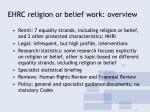 ehrc religion or belief work overview
