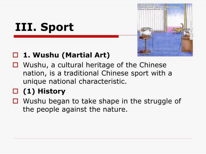 III. Sport