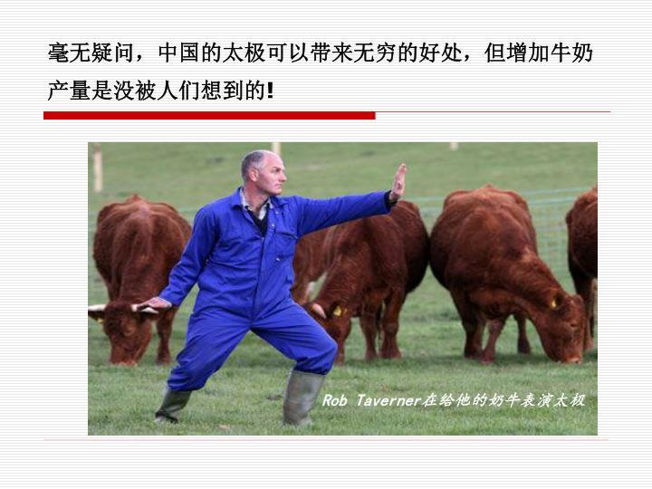 毫无疑问,中国的太极可以带来无穷的好处,但增加牛奶产量是没被人们想到的