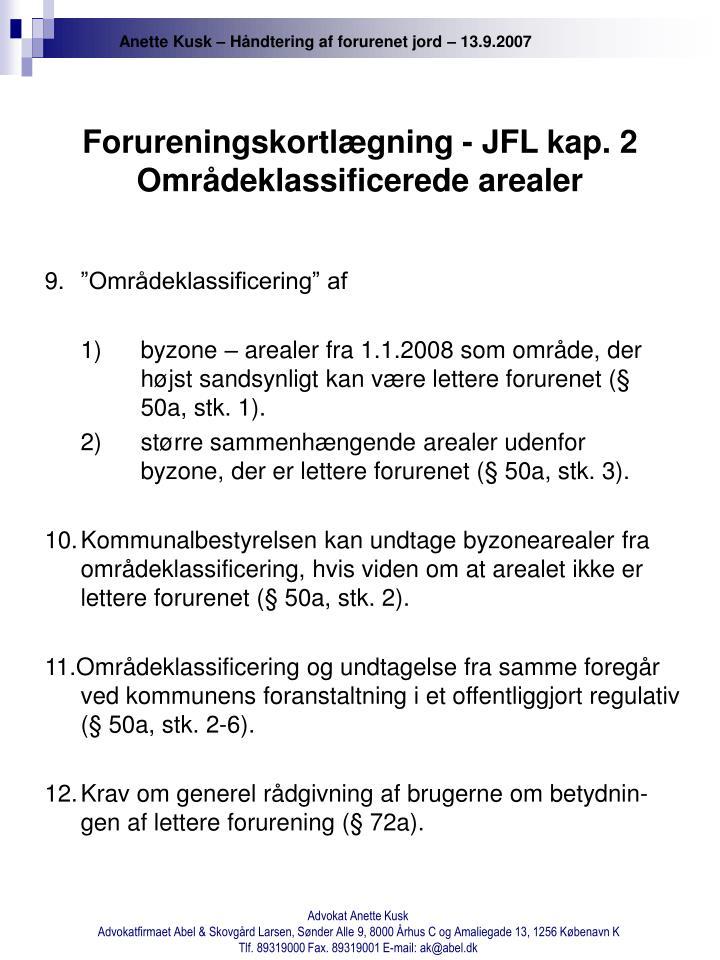 Forureningskortlægning - JFL kap. 2