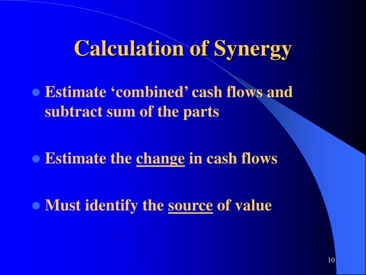 Calculation of Synergy