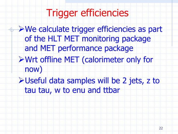 Trigger efficiencies