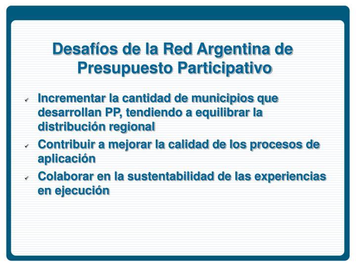 Desafíos de la Red Argentina de