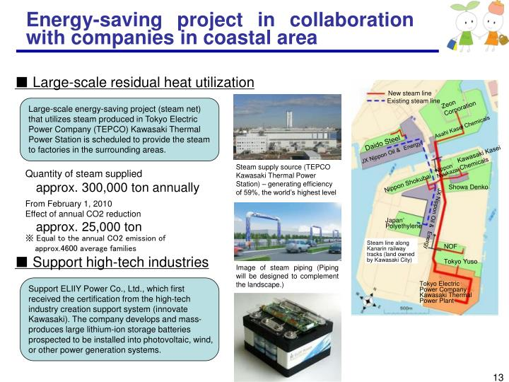 Energy-saving project in collaboration with companies in coastal area