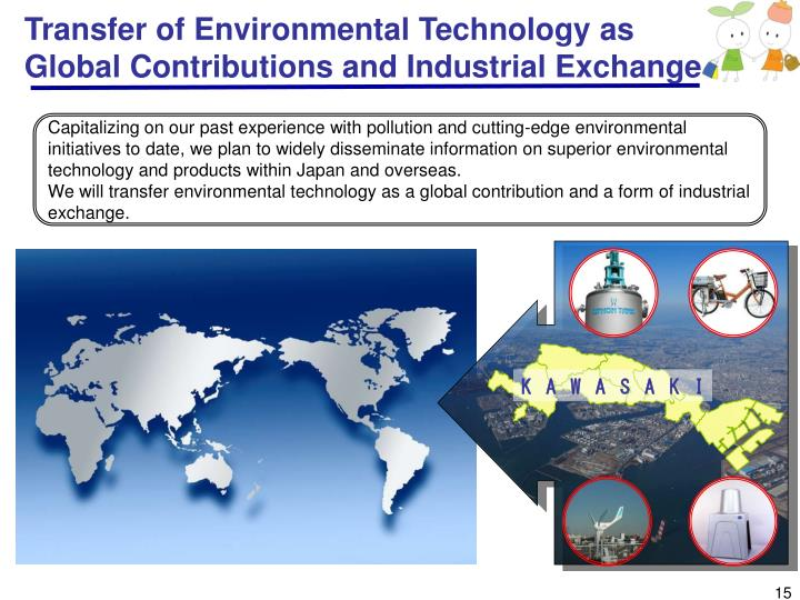 Transfer of Environmental Technology as Global Contributions and Industrial Exchange