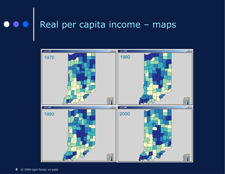 Real per capita income – maps