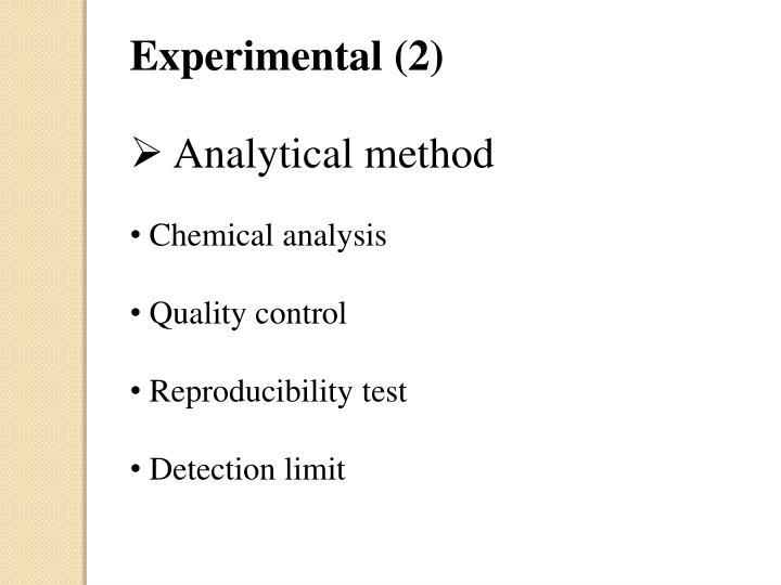 Experimental (2)