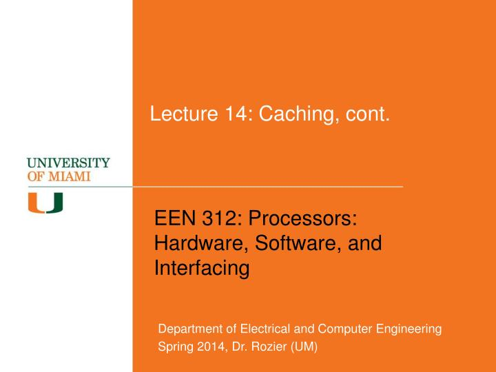 Lecture 14 caching cont