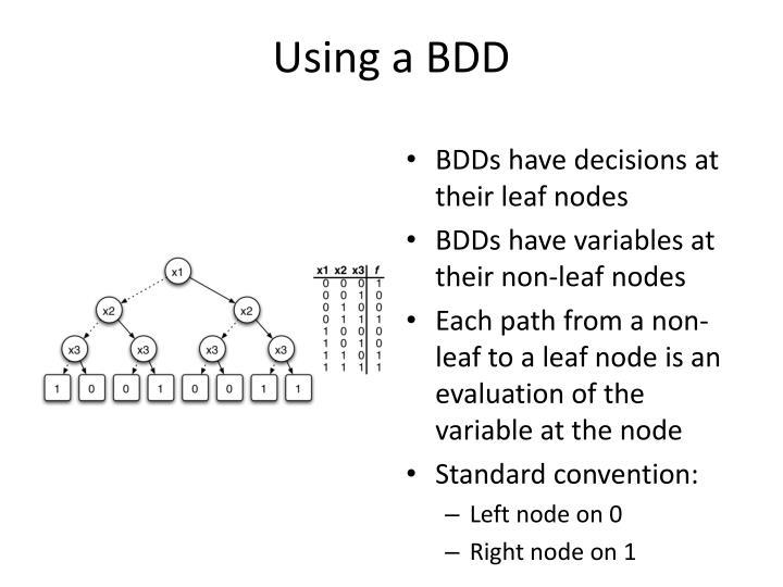 Using a BDD