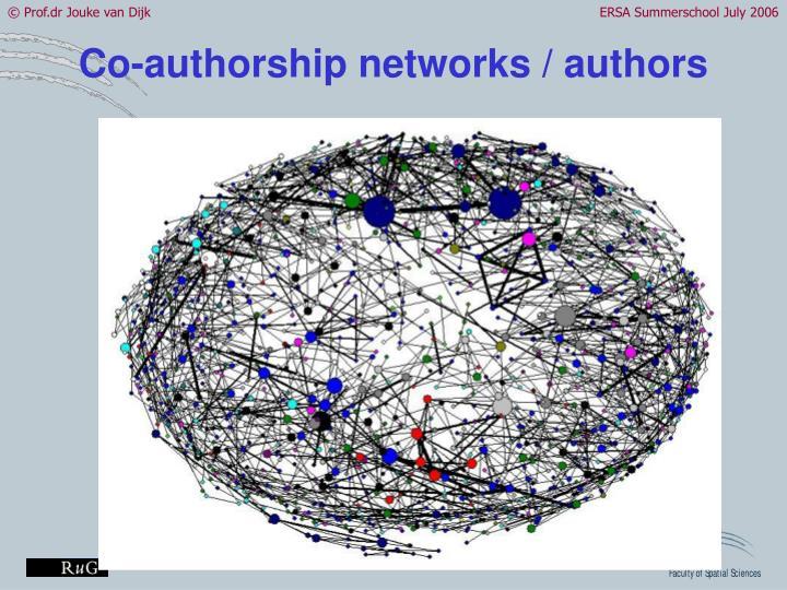 Co-authorship networks / authors