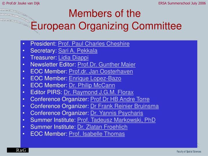 Members of the