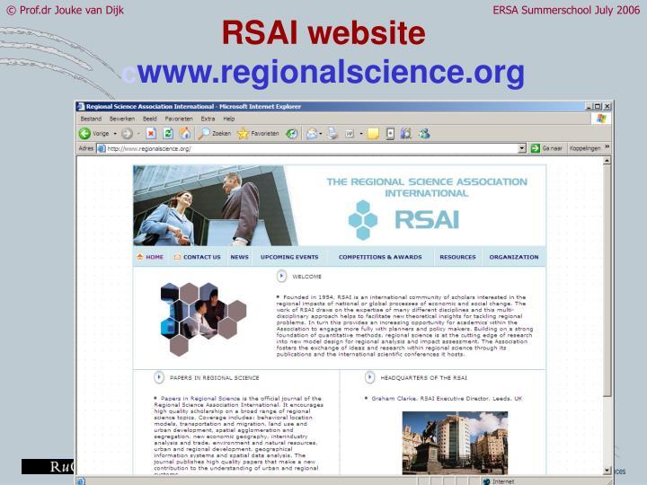 RSAI website