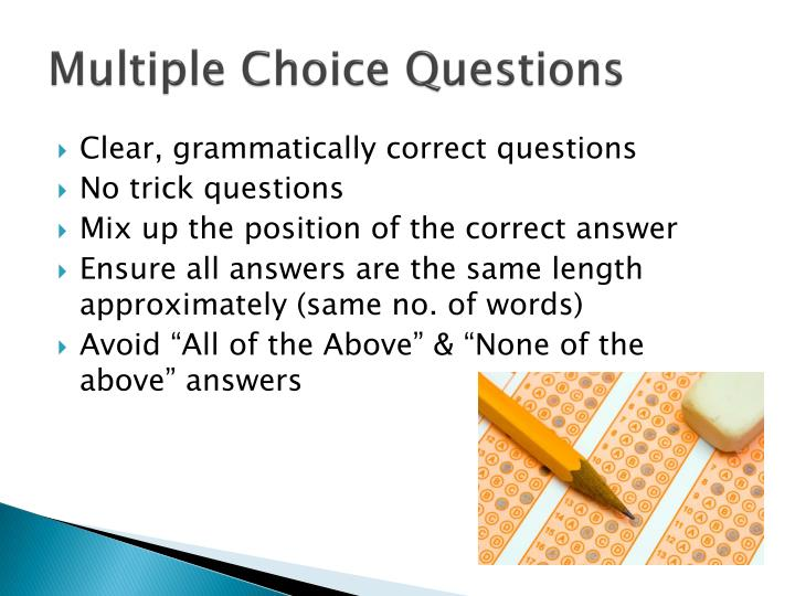 multiple choices questions