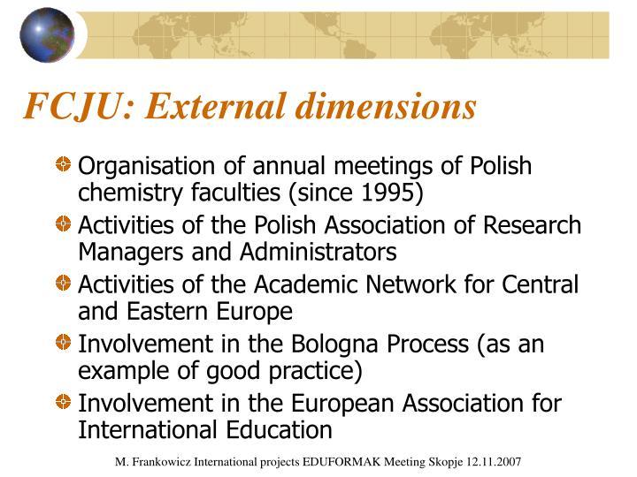 FCJU: External dimensions
